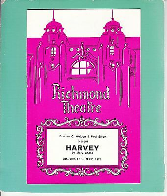 1971 Richmond Theatre Programme - HARVEY - HARRY WORTH - ANNA KAREN - MADI HEDD