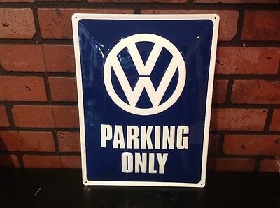 Volkswagen Tin Parking Sign 15.5 X 11.5