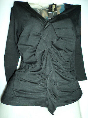Wholesale Lot Ladies Tops Black L/XL/S Long Sleeve Soft Silky 6 for Only £15.00