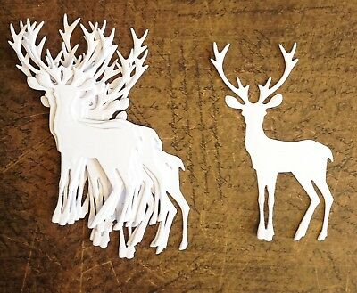 Tim Holtz Reindeer Die Cuts (white) 10 Pieces Included