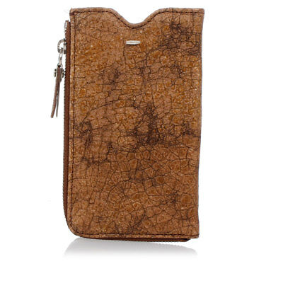 MARTIN MARGIELA MM11 New Unisex Leather Brown Phone Case Made in Italy