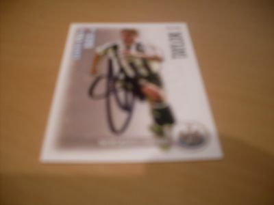 signed shoot out card of newcastle united steven taylor 2006/07