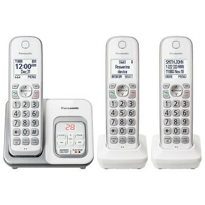 Panasonic KX-TGD533W Cordless Phone with Answering Machine, Expandable in White