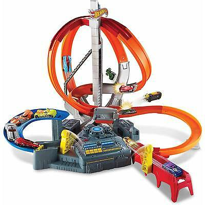 Hot Wheels Spin Storm Track Motorised TWO PLAYER ACTION !