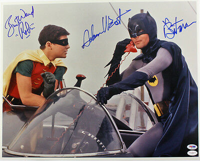"Set Of 4 Batman TV Series Cast 7"" x 5"" Photo Prints Adam West  Burt Ward Penguin"