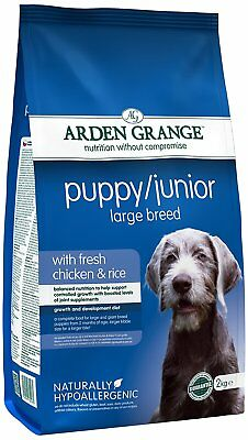 Arden Grange Chicken and Rice Puppy Junior Large Breed Dog Food - 12 kg