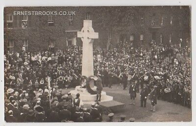 Early Postcard,Suffolk, Bury St Edmunds,War Memorial,Special Event,Busy Scene,RP