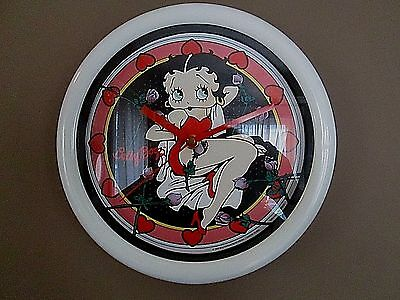 "NWOT BETTY BOOP WALL CLOCK -""Bed of Roses""- Item #10324 - In Original Packaging!"