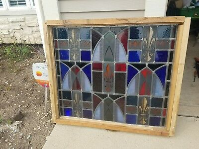 Stunning Antique Religious Themed Stained Glass