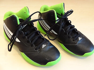 Adidas 3 Series Mid Junior Basketball Shoes / Boots UK 5.5, Black / Green / Wht