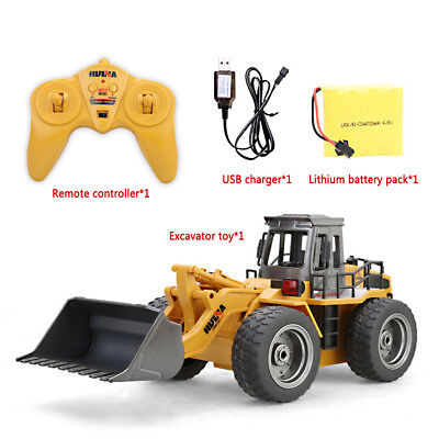 6CH Full Functional Remote Control Excavator Bulldozer Construction Toy Kid Gift