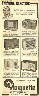1951 General Electric Radios Original Ad In French