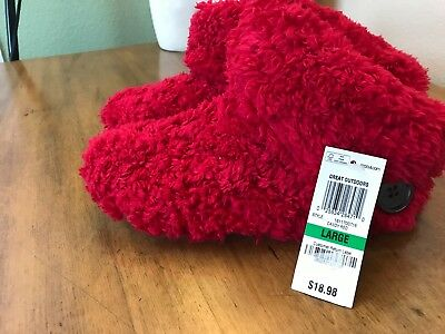 Charter Club Super Soft Bootie Slippers Red Large (8-9) NWT sl1