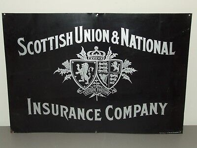 Antique Metal Advertising Sign - SCOTTISH UNION & NATIONAL INSURANCE COMPANY