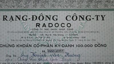 South Vietnam RADOCO Stock 1966