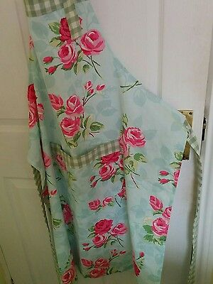 Large Apron Rose printed shabby chic hand made apron by Buttons Galore size 18
