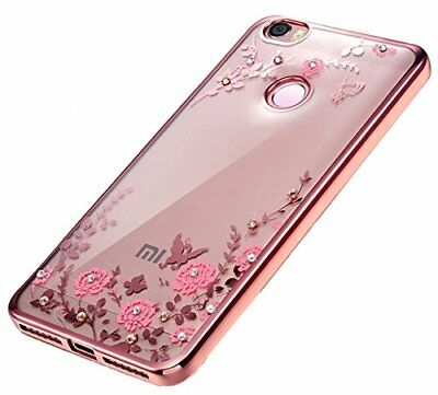 Flowers Garden Clear Case Cover Slim Tpu + Tempered Glass Xiaomi Redmi 4X