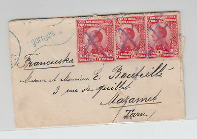 SLOVENIA early cover to France 1926