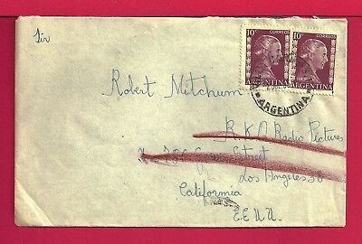 1955 Argentina Fan Mail Cover To Robert Mitchum Forwarded 22