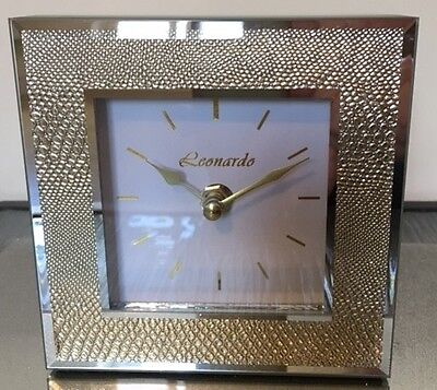HALF PRICE Gold Clock - Snakeskin and Mirror effect.