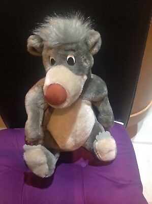 Disney Store Jungle Book Baloo Plush Toy ~ 11 inches