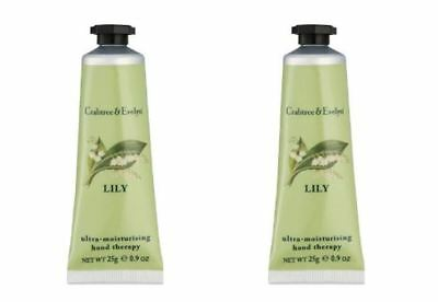 Crabtree & Evelyn Hand Therapy - 2 x 25g Hand Therapy - POMEGRANATE - NEW