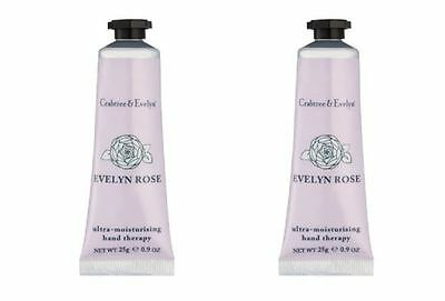 Crabtree & Evelyn Hand Therapy - 2 x 25g Hand Therapy - EVELYN ROSE - NEW