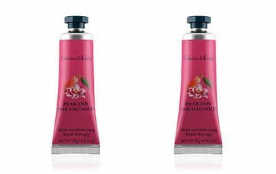 Crabtree & Evelyn Hand Therapy - 2 x 25g Hand Therapy - PEAR & PINK MAGNOLIA NEW