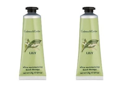 Crabtree & Evelyn Hand Therapy - 2 x 25g Hand Therapy - LILY - NEW & LAST STOCK