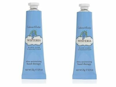 Crabtree & Evelyn Hand Therapy - 2 x 25g - WISTERIA - NEW Reduced Price - Dented