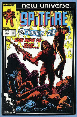 Spitfire and the Troubleshooters #7 1987 New Universe