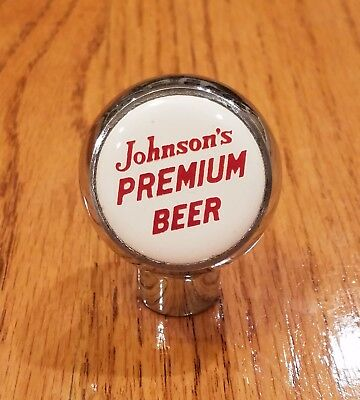 RARE Uncataloged 1940s(?) JOHNSON'S PREMIUM BEER ball tap knob from WISCONSIN !!