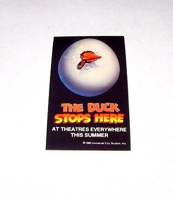 Rare Official 1986 Howard The Duck Movie Promo Sticker - George Lucas Marvel