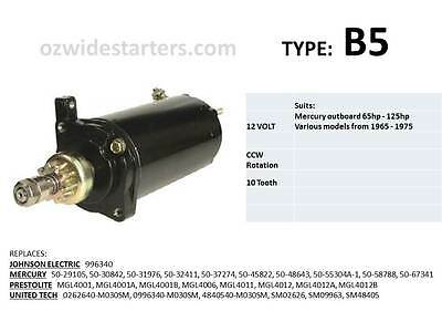Mercury starter motor suits 65hp-125hp from 1965-1975