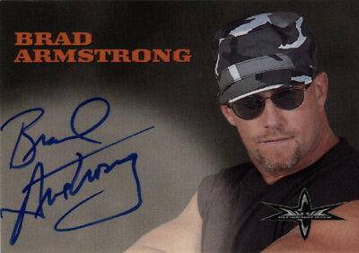 Brad Armstrong 1999 Embossed WcW/nWo Signature Autograph Auto WCW NWO 1998