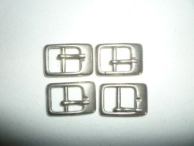 buckles set of 4 24mm x 14mm chrome finish