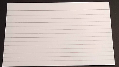 Large Flash Cards Lined Revision Record School Homework Flashcard Study 15cm 6""