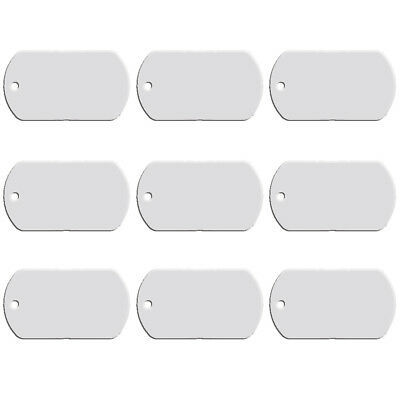 ed82ac381cb0 100pcs Aluminum Blank Military Army Dog Tag 2 Sides Engravable Free Shipping