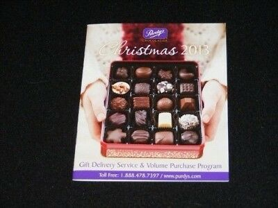 PURDYS Chocolatier Christmas 2013 catalog booklet flyer