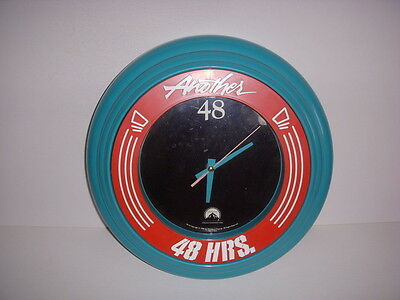 "Another 48 Hours 14"" Wall Clock - Eddie Murphy, Nick Nolte, Works Great!"