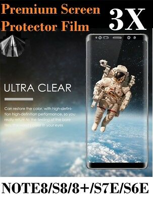 3X Samsung Galaxy Note 8 S8 S8+ Plastic Screen Film Protector Not Tempered Glass