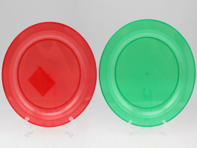 96 x Chistmas Side Plate Plastic 20cm Red & Green Assorted bulk wholesale lot