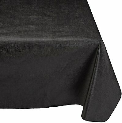 Carnation Home Fashions Solid Color Vinyl 70 Round Tablecloth Car