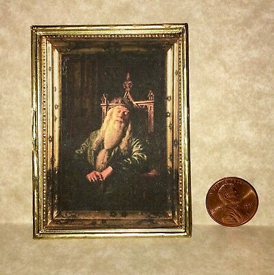 Custom Dollhouse Miniature Framed Portrait Inspired By Harry Potter's Dumbledore