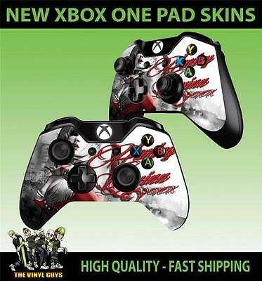 XBOX ONE Manette Pad Autocollant Kit Harley Quinn Arkham City Batman Stickers