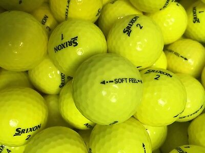 Srixon Soft Feel Yellow Golf Balls Pearl / Grade A Lake Balls Free Delivery