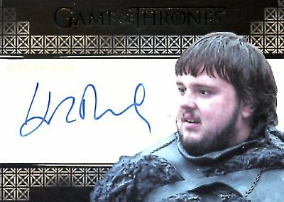 Game Of Thrones Valyrian Steel VALYRIAN AUTOGRAPH card JOHN BRADLEY as SAMWELL