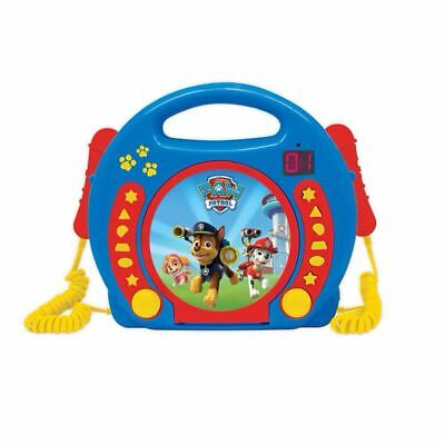 Paw Patrol Portable Cd Player With Microphones By Lexibook Kids