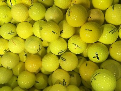 Yellow Mixed Model Golf Balls Pearl / Grade A Lake Balls Free Delivery 24  48