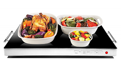 Chefman Electric Warming Tray / Trivet, Perfect For Buffets, Glass Top Large 21""